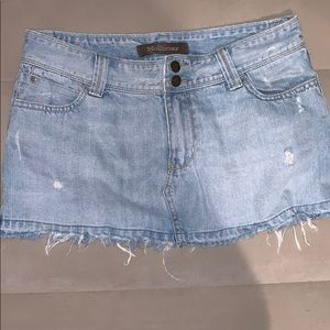 Hollister Distressed Jean Skirt